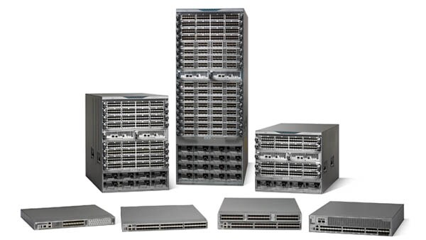 Cisco Storage networking switches family photo