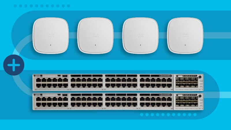 Cisco Catalyst 9000 multigigabit switches and Wi-Fi 6 access points
