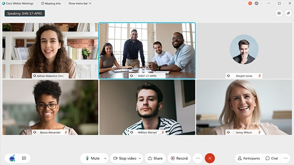 Webex Meetings UI