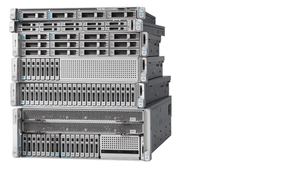 une photo d'un serveur Cisco hyperconvergent