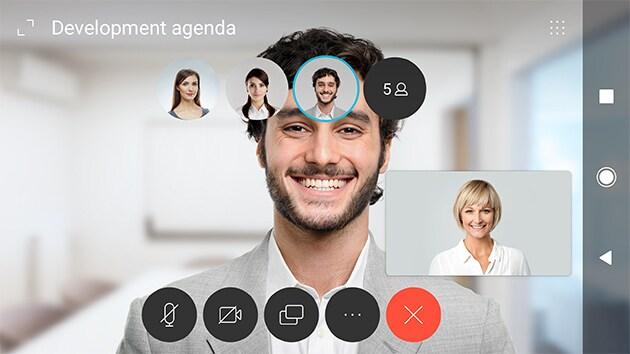 Webex Teams Meeting - viewcall control icons