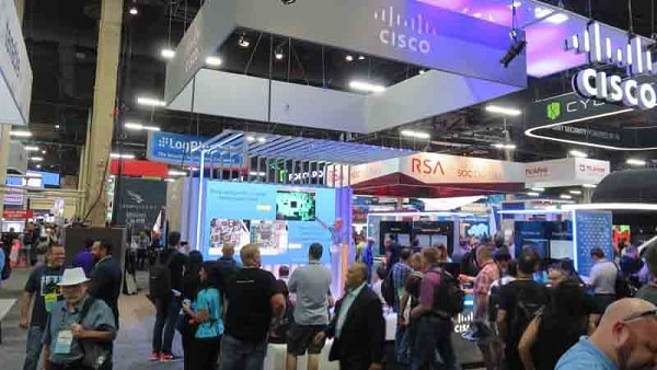 Cisco booth at Tradeshow