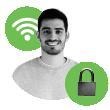 Guest and secure wireless access 访客接入和安全无线接入:轻松激活并设置。