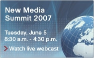 New Media Summit webcast June 5th