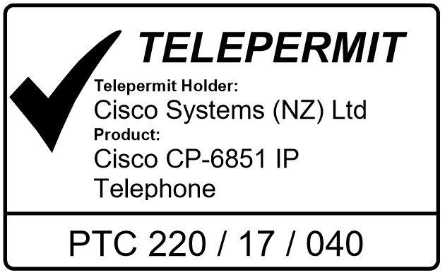 Cisco IP telefon 6851 Telepermit