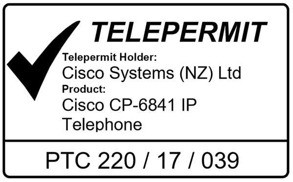 Cisco IP telefon 6841 Telepermit