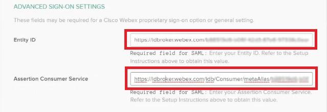 Cisco Webex Control Hub Single Sign-On with Okta