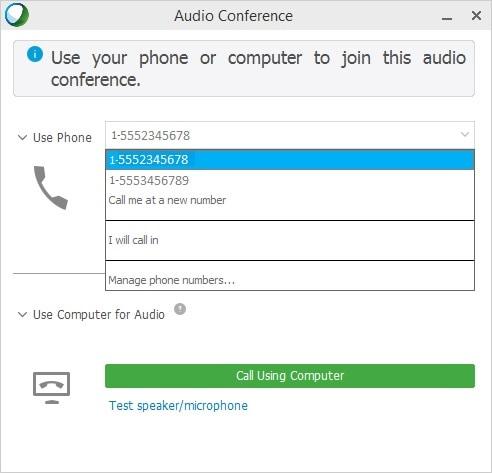 Use Webex Audio in Cisco Webex Training