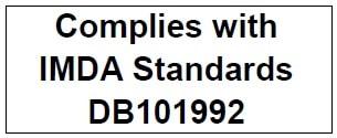 Соответствует стандартам IMDA DB101992
