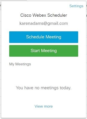Schedule and Start Cisco Webex Personal Room Meetings with