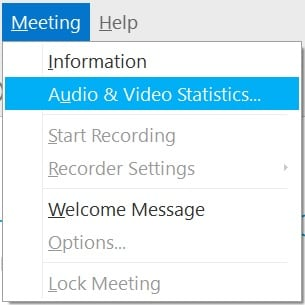 Check the Audio and Video Statistics of Your Cisco Webex Meeting