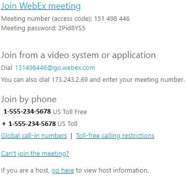 invitation from Outlook
