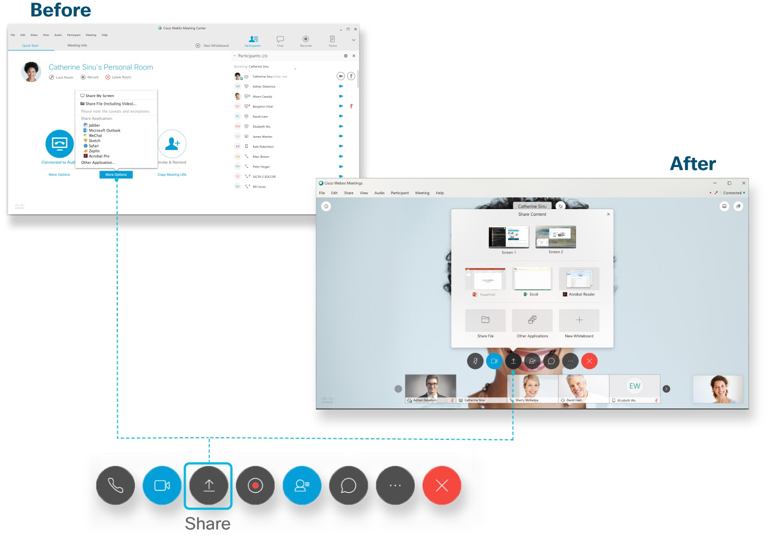 Share Content in Cisco Webex Meetings and Cisco Webex Events