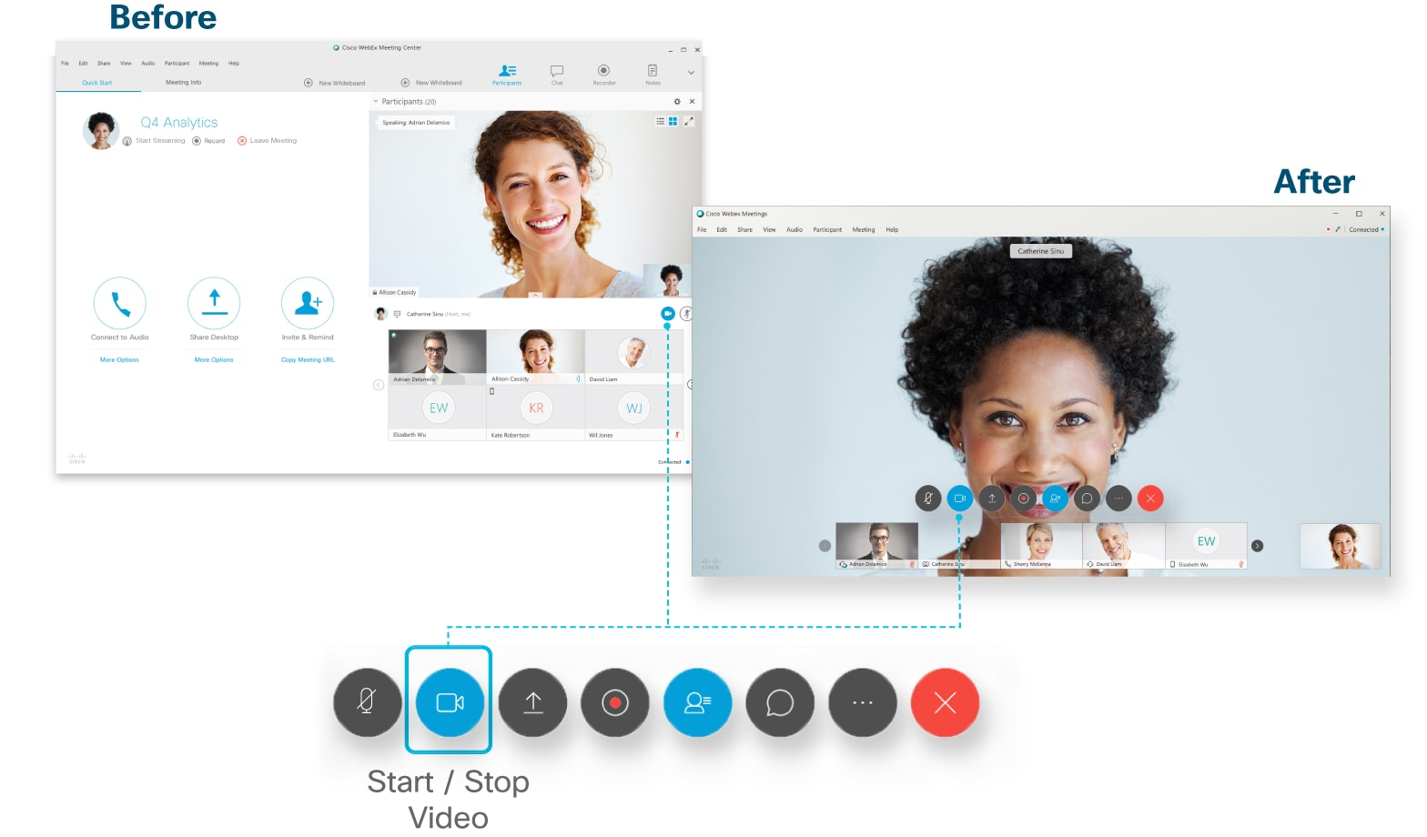 Start or Stop Your Video During a Cisco Webex Meeting