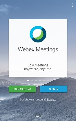 cisco webex meetings تحميل