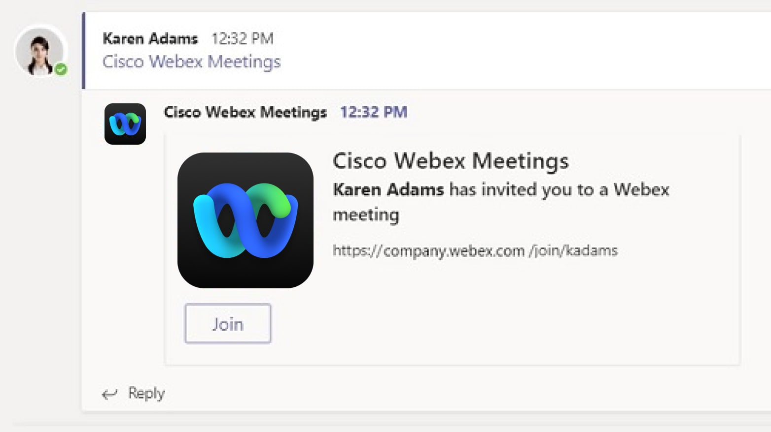 Join the Cisco Webex meeting