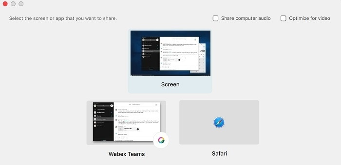 Share Your Screen or Application in a Cisco Webex Teams Meeting or Call