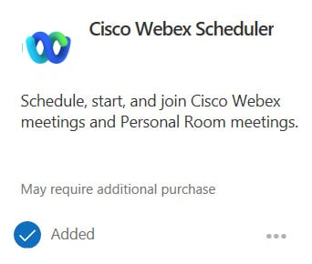 Cisco Webex Meetings für Google Add-In hinzufügen
