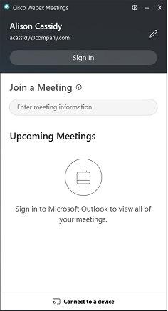 Cisco Webex Meetings desktop app