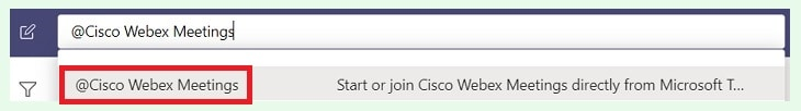 Cisco Webex Meetings command
