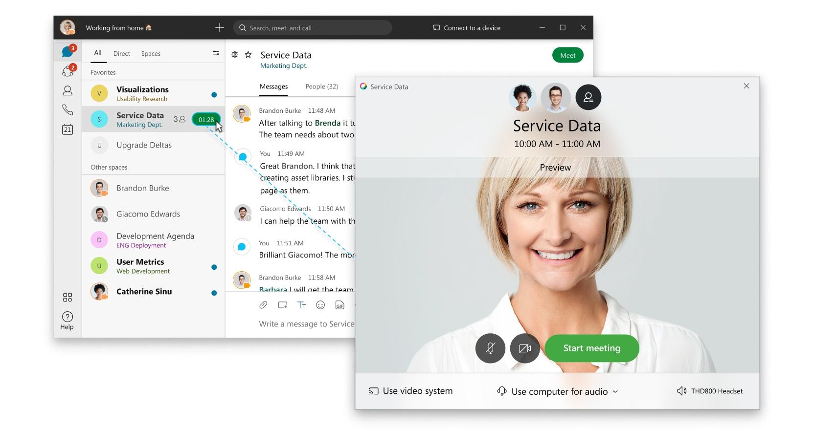 Meetings in Webex Teams