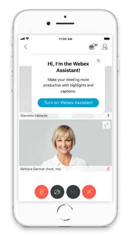 Turn on Webex Assistant