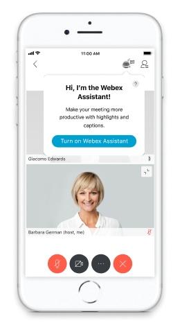 開啟 Webex Assistant