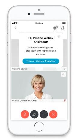 Включить помощника Webex