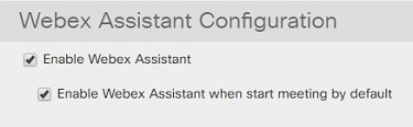 Webex Assistant 設定