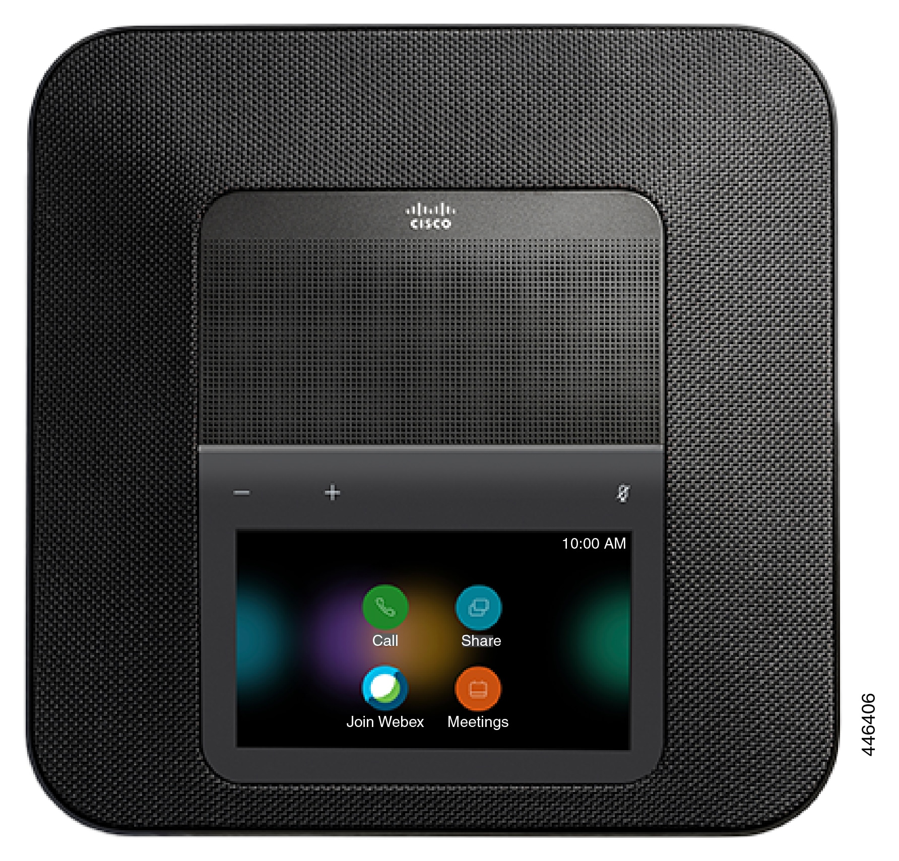 ホーム画面を使用した Cisco Webex 会議電話のトップビュー