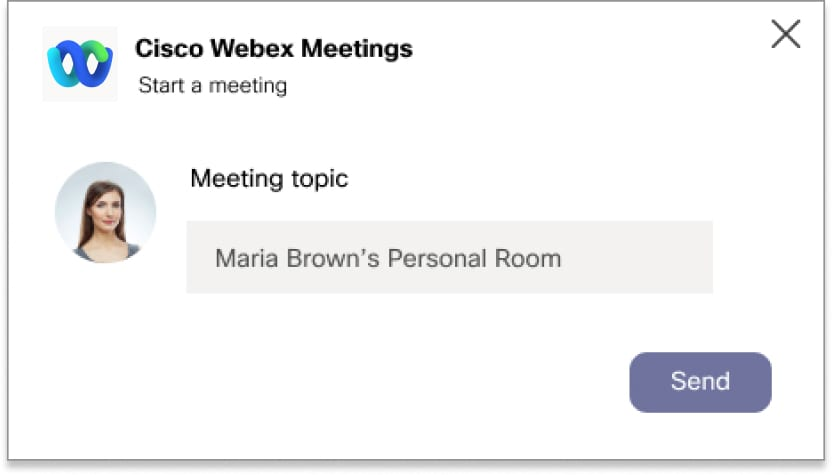 Meeting topic text field