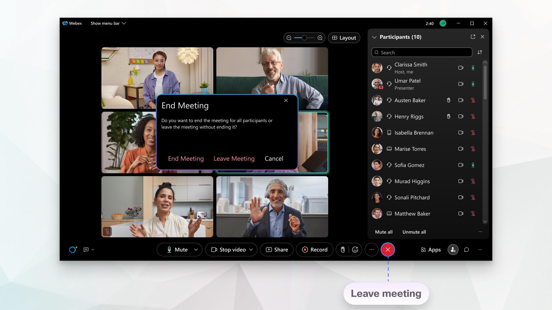 Leave Meeting