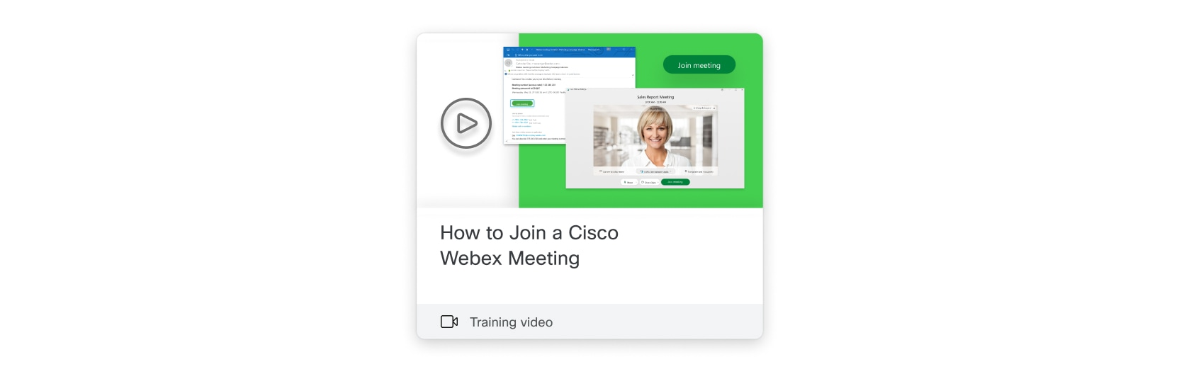 Check out How to Join a Cisco Webex Meeting with a Youtube training video.