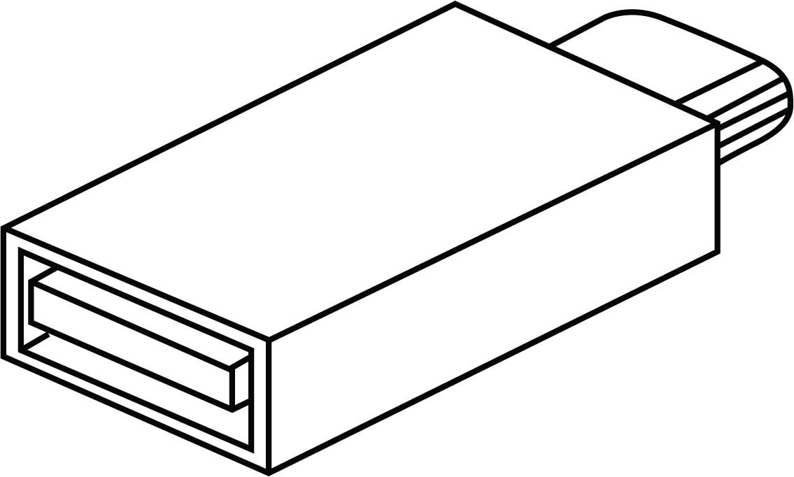 USB-A 至 USB-C 配接器
