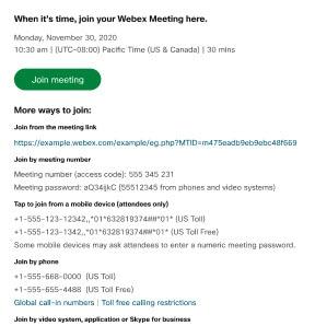 Webex Details