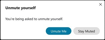 Unmute yourself