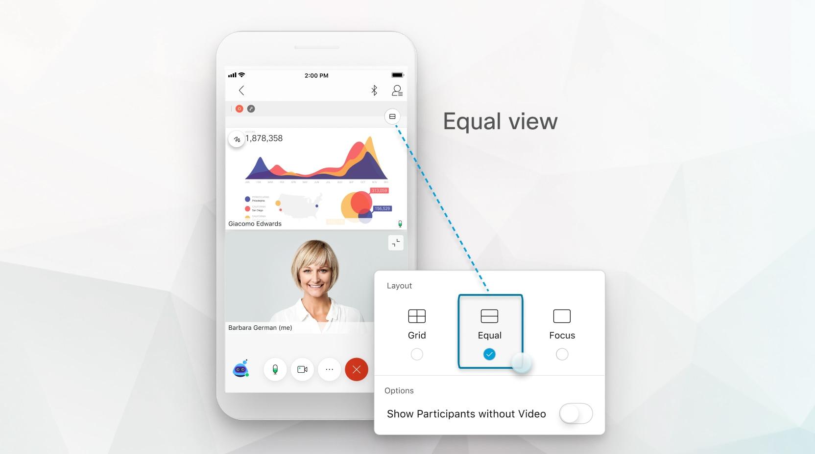 Visualizzazione uguale con contenuto condiviso