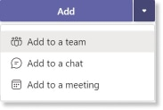 Add to a team highlighted in drop-down menu