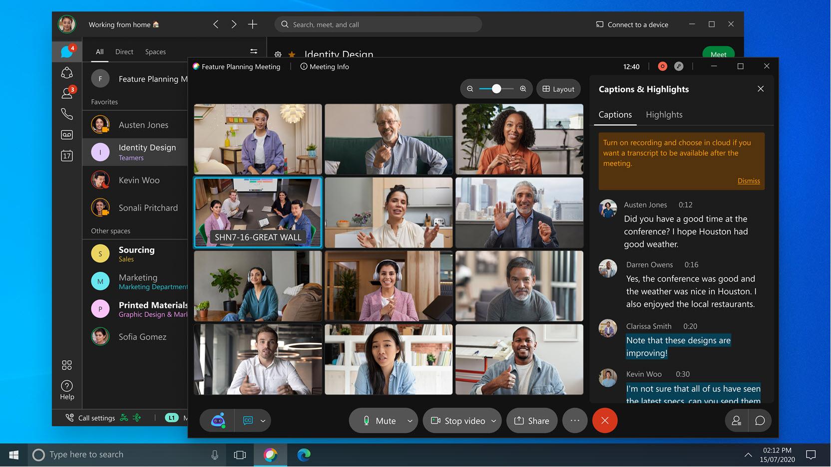 Asystent Webex dla usługi Meetings