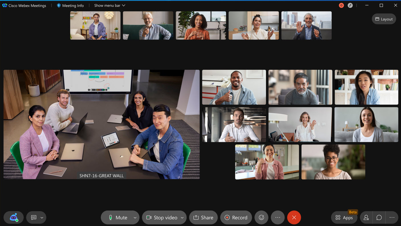 Webex Virtual State Participant Increase to 8