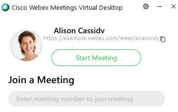 Webex Meetings Desktop App