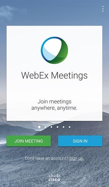 cisco webex ミーティングに参加する