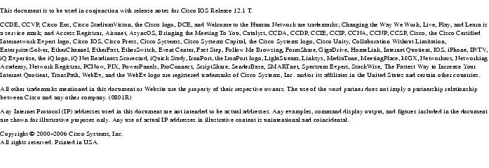 Cross-Platform Caveats for Cisco IOS Release 12 1 T [Cisco IOS