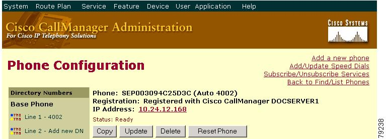 Cisco CallManager Administration Guide, Release 4 0(1) - Cisco IP