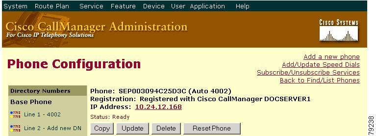 Cisco CallManager Administration Guide, Release 4 1(3) - Cisco IP