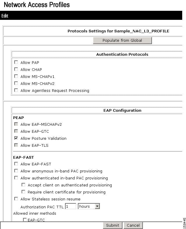 Configuration guide for cisco secure acs 41 nac configuration protocols policy for the nac layer 3 template pronofoot35fo Choice Image