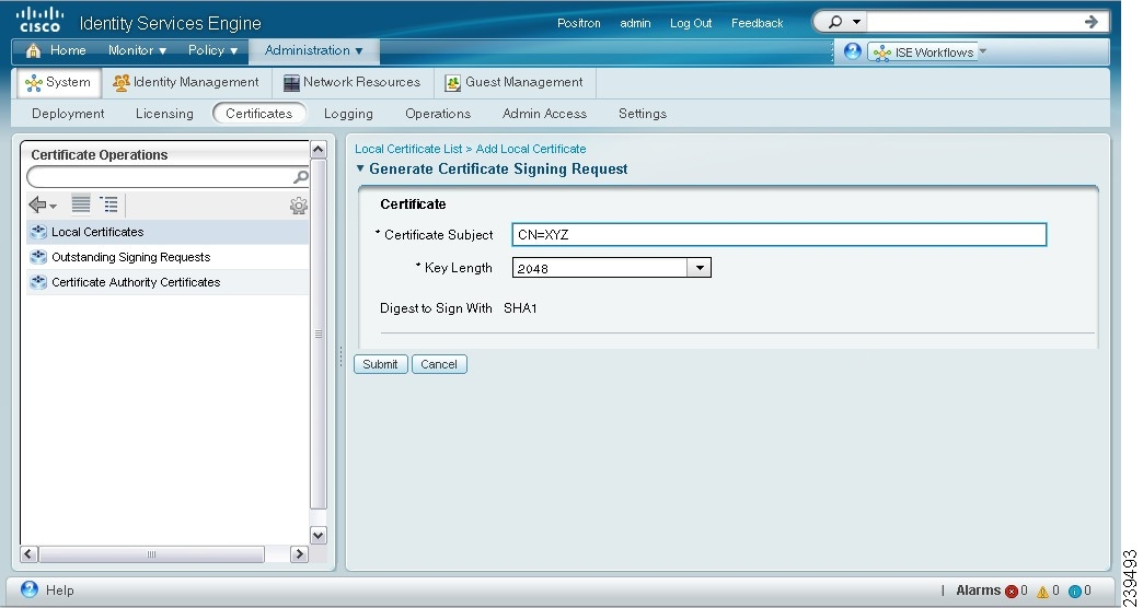 Managing certificates cisco identity services engine cisco systems figure 12 4 generating a certificate signing request yadclub Image collections