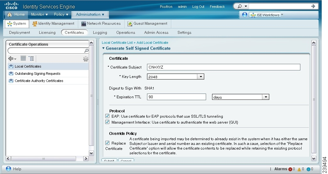 Managing Certificates [Cisco Identity Services Engine] - Cisco Systems