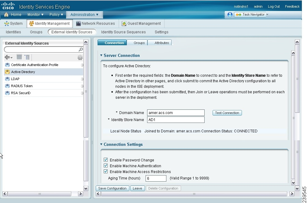 Managing External Identity Sources Cisco Identity Services Engine
