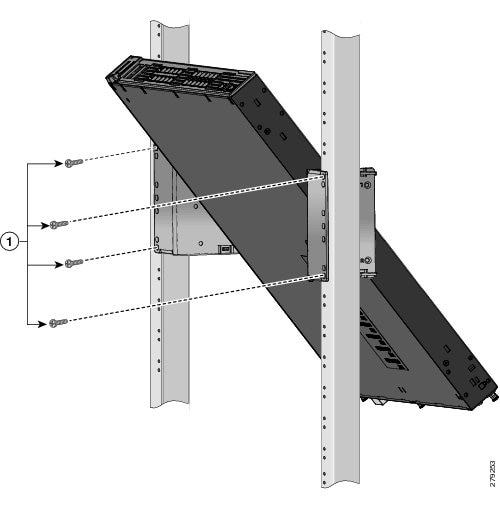 Mounting the Switch Using 23-Inch Angle Brackets